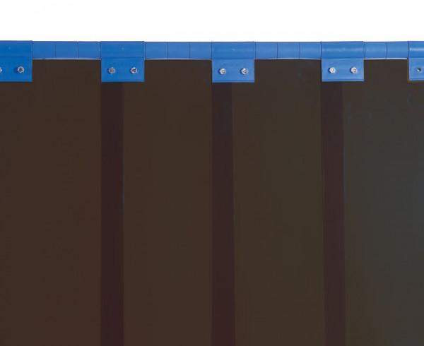 Schweißerschutzlamelle, bronze 300 mm, Überlappung: 33 % = 50 mm, 4,80 kg/m²