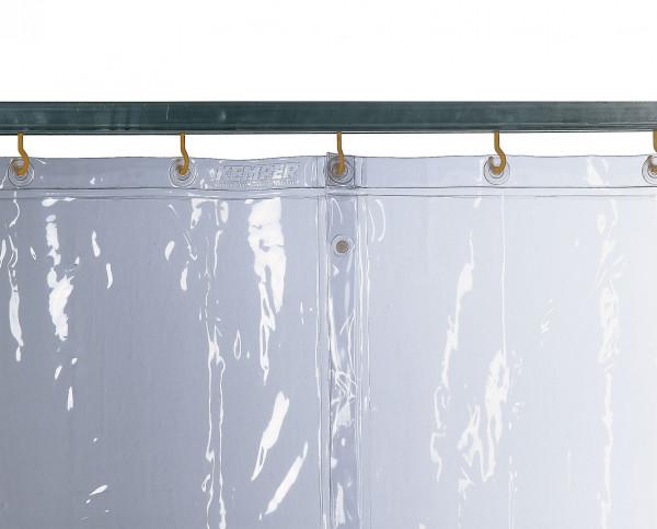 Schutzvorhang S0, glasklar B 1.300 mm, D 0,4 mm