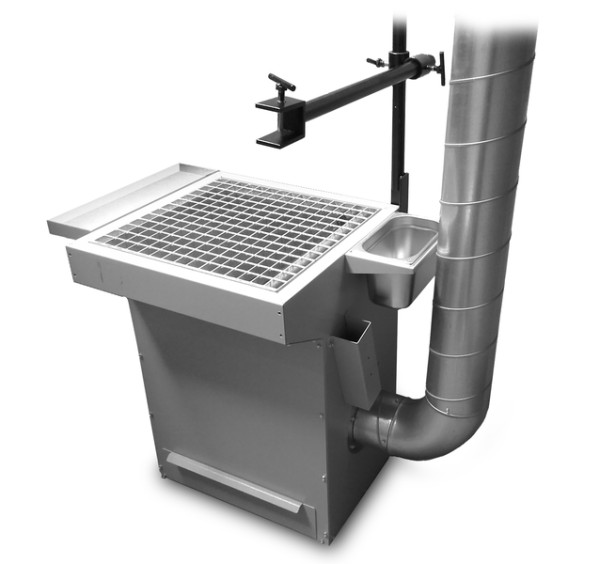 Ausbildungstisch mit Zwangslagen-Schweißvorrichtung 600 mm breit