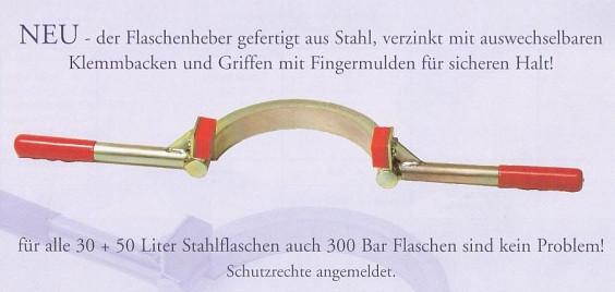 Flaschenheber - gefertigt aus Stahl