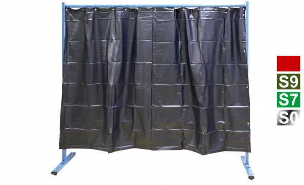 1-teilige Schutzwand mit Folienvorhang