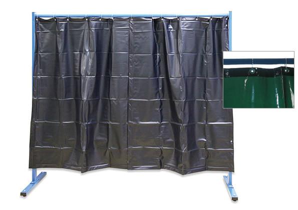 1-teilige Schutzwand mit Folienvorhangbespannung, z. B. gegen Staub, Zugluft