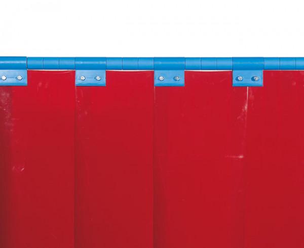 Schweißerschutzlamelle, rot 300 mm, Überlappung: 100 % = 150 mm, 7,20 kg/m²