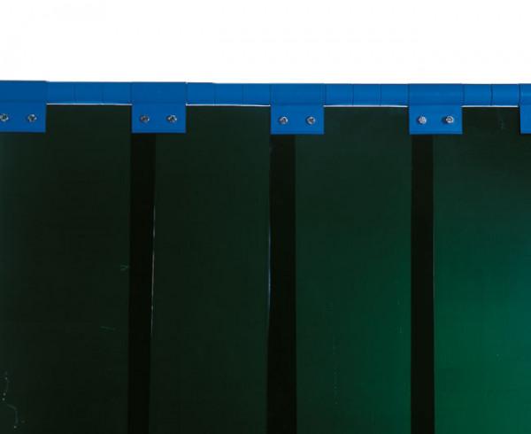 Schweißerschutzlamelle S7, grün 300 mm, Überlappung: 100 % = 150 mm 7,20 kg/m²