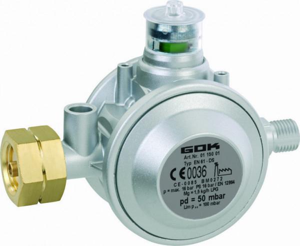 Gasregler Typ EN61-DS PS Kleinflaschen 50 mbar