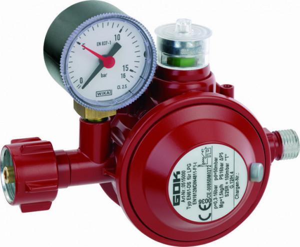 Gasregler Typ EN61-DS PS 16 bar 1,5kg/h 50mbar
