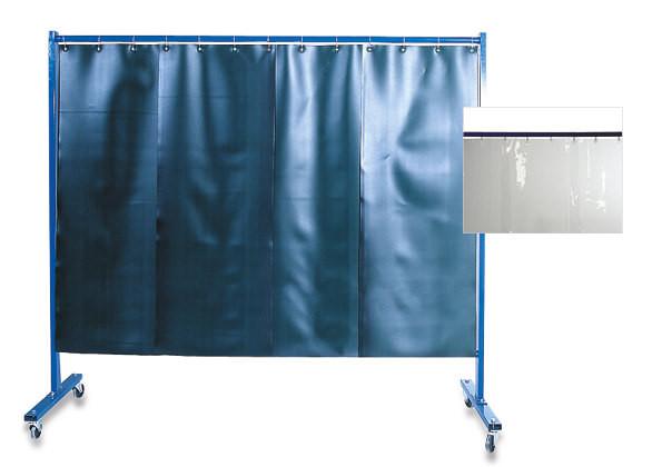 3-teilige Schutzwand mit Lamellen Dicke: 2 mm