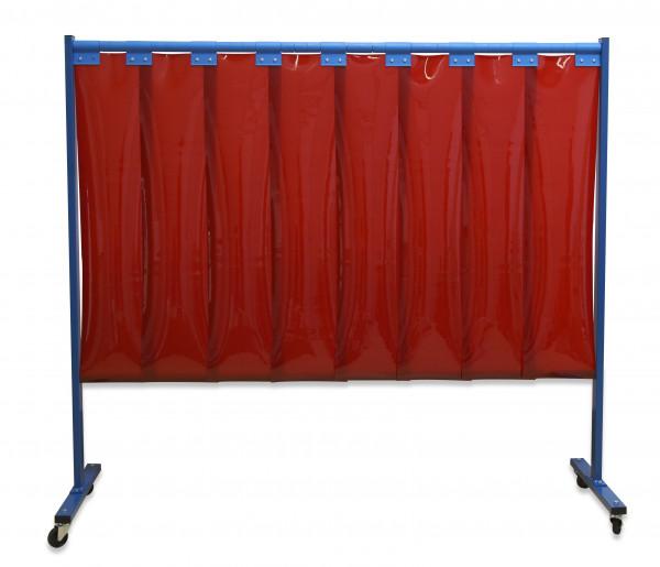 1-teilige Schutzwand mit Lamellen Dicke: 2 mm