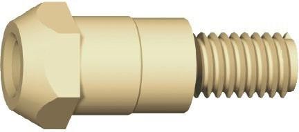 Gasdüsenträger M6, Länge 28 mm