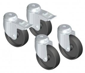Rädersatz für Schutzwand