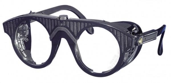 Nylonbrille schwarz, Gläser rund