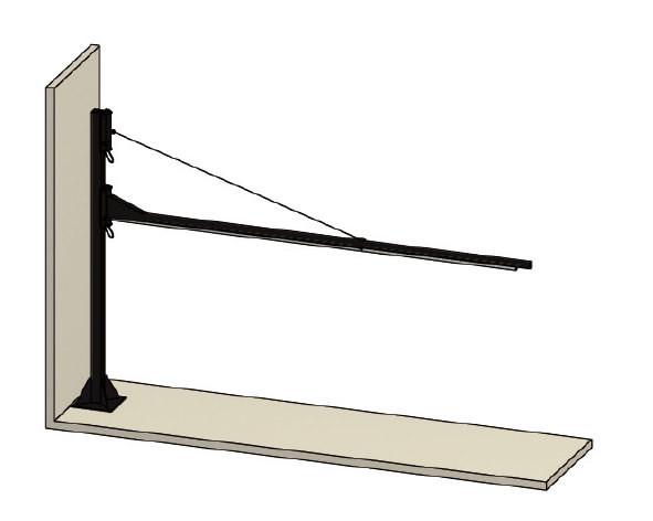 Säulenschwenkarm für Vorhänge und Lamellen