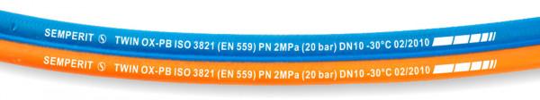 Zwillingsschlauch Propan/Sauerstoff Ø 16 mm