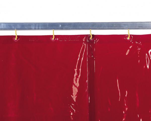 Schweißerschutzvorhang, rot, D 0,4 mm